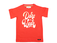 A Monday t-shirt Dare poppy red